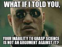 Image result for anti-science memes